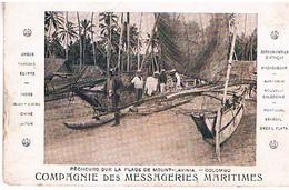 CEYLON  SRI LANKA PECHEURS  SUR  LA PLAGE  DE MOUNT  LAVINIA CLOMBO        T65 - Sri Lanka (Ceylon)