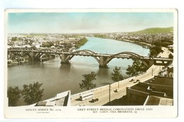 1940/50's, Australia, Brisbane, Grey Street Bride, Aerial View. Real Photo Pc, Unused. - Brisbane