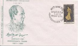India FDC Abanindranath Tagore With Cachet 27-8-1971 - FDC