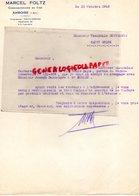 37 - AMBOISE- FACTURE MARCEL FOLTZ -COMMISSIONNAIRE EN VINS- 1943 - Petits Métiers