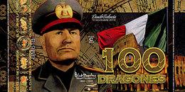 El Club De La Moneda  100 Dragones 2015  Polymer Série Les Personnages Historiques  Benito Mussolini UNC - Fictifs & Spécimens