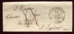 Lettre Avec Texte ( Scan Intérieur Sur Demande ) De Lillebonne Pour Amiens En 1839 - 1801-1848: Precursori XIX