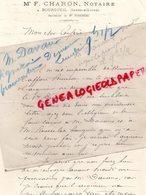 37 - BOURGUEIL- LETTRE MAITRE F. CHARON NOTAIRE - ME FLEURIAU - Petits Métiers