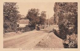 ESCAUDES - GIRONDE -  (33) -  2 CPA. - France