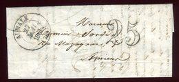 Lettre Avec Texte  ( Scan Intérieur Sur Demande) De Aumale Pour Amiens En 1851 - Storia Postale