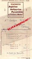 37 - TOURS- FACTURE LABORATOIRES P. METADIER-DOCTEUR PHARMACIE- PHARMACIEN- ASPIRINE-PYRAMIDON- AMBAZAC LEVEQUE - Petits Métiers