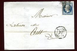 Lettre Sans Texte De Lyon Pour Crest En 1857 - Poststempel (Briefe)