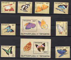 1988 - TANZANIA -  Mi. Nr. 498-507 - NH - (UP121.9) - Tanzania (1964-...)