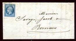 Lettre Avec Texte ( Scan Intérieur Sur Demande ) De Valence Pour Romans En 1858 - Marcophilie (Lettres)