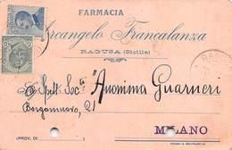 """08259 """"RAGUSA - FARMACIA ARCANGELO FRANCALANZA""""  CART COMM SPED 1923 - Italy"""
