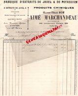 37 - TOURS- FACTURE  AIME MARCHANDEAU - FELIX BOY- FABRIQUE EXTRAITS DE JAVEL ET POTASSIUM-33 BD THIERS- 1902 - Petits Métiers