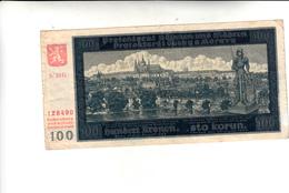 Cecoslovacchia,Banconota 100 Korun 1940 - Cecoslovacchia