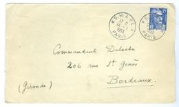 1953, France S.H.A.P.E Postmark To Bordeaux. - 1921-1960: Modern Period