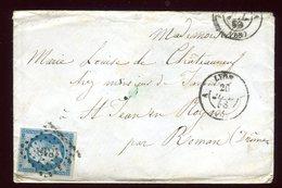Enveloppe De Lyon Pour Roman En 1858 - 1877-1920: Période Semi Moderne
