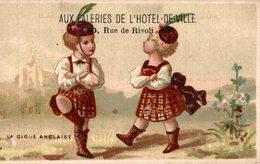 CHROMO AUX GALERIES DE L'HOTEL DE VILLE A PARIS CARTERET DANSE LA GIGUE ANGLAISE - Other