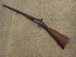 Fusil Juxtaposé à Piston XIXeme Siècle 1 - Armes Neutralisées