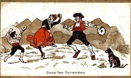 CHROMO AUX ELEGANTES CARTERET A PARIS DANSE DANS LES PYRENEES - Other