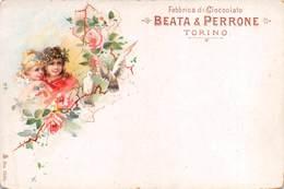 """08265 """"TORINO - BEATA E PERRONE - FABBRICA CIOCCOLATO""""  CART COMM NON SPED - Italy"""