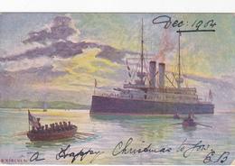 Cpa (litho)-bateau-illustrateur A. Kircher--the Wrench Series 1011b - Guerra