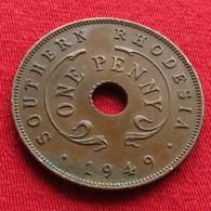 Southern Rhodesia 1 Penny 1949 KM# 25  Rodesia Rhodesie - Rhodésie