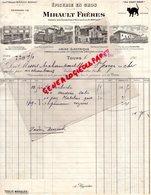 37- TOURS - FACTURE MIRAULT FRERES-MONDET- EPICERIE EN GROS- SUCRERIES H. SAY-AU CHAT NOIR-FABRIQUE HUILE NOIX-1904 - Alimentaire