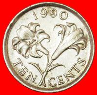 # FLOWER (1986-1998): BERMUDA ★ 10 CENTS 1990! LOW START ★ NO RESERVE! - Bermudes