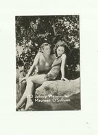 -**1 X  Johnny Weissmuller & Maureen O'Sullivan   ** -Belgian  Chewing  Gum - - Photographs