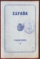 Passeport Espagnol Valable Pour La France. España. Pasaporte. Délivré En 1928 à Palma De Mallorca. Cerbère. Cachets. - Documenti Storici