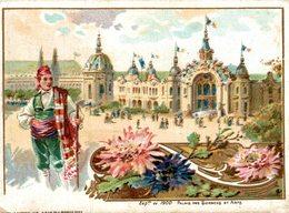 CHROMO MACHINE A COUDRE SINGER EXPOSITION DE 1900 PALAIS DES SCIENCES ET DES ARTS - Trade Cards