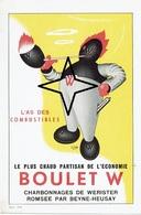 Buvard (12 X 18cm) - BOULET W. - Charbonnages De WERISTER ROMSEE Par BEYNE-HEUSAY (Illustrateur : G. FAVRE) - Buvards, Protège-cahiers Illustrés