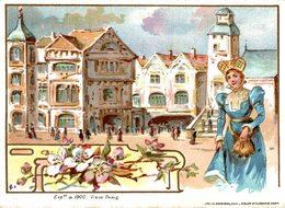 CHROMO MACHINE A COUDRE SINGER EXPOSITION DE 1900 VIEUX PARIS - Trade Cards