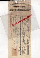 37-- TOURS- MANDAT TRAITE MONJURE- JUET-PROU & LEDAY-MANUFACTURE CONFECTIONS TISSUS- 1924 - Petits Métiers