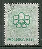 POLAND Oblitéré Timbre De 1975 Provenant Du Bloc 67 Jeux Olympiques De Montréal - 1944-.... Republik