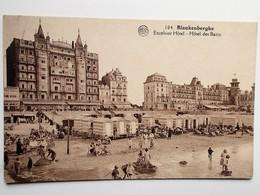 CPA - BLANKENBERGHE -  Excelsior Hôtel - Hôtel Des Bains  ANIMATIE 1927  - NO REPRO - Blankenberge