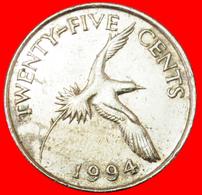 # BIRD (1986-1998): BERMUDA ★ 25 CENTS 1994! LOW START ★ NO RESERVE! - Bermudes