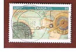 CANADA - SG 1490  - 1992 PHILATELIC EXHIBITION CANADA '92: ENCOUNTER   -  USED - 1952-.... Règne D'Elizabeth II
