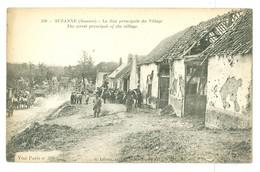WW1, France, Suzanne. 'La Rue Principale Du Village.' War Damage. Printed Pc, Unused. - France