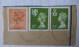 GREAT BRITAIN  - SCOTLAND - NORTHERN IRELAND. SG S65 (22p), SG NI54 (22p) And SG X885 (10p). Used. - 1952-.... (Elizabeth II)
