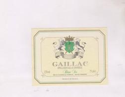 ETIQUETTE De  VIN GAILLAC, BLANC SEC - Gaillac