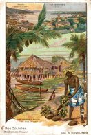 CHROMO  NOS COLONIES  ETABLISSEMENTS D'OCEANIE - Trade Cards