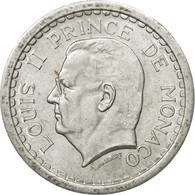Monnaie, Monaco, Louis II, 2 Francs, Undated (1943), TTB+, Aluminium - Monaco