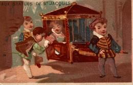 CHROMO AUX STATUES DE SAINT JACQUES - Other