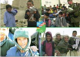 """NATO-Einsatz BUNDESWEHR ISAF AFGHANISTAN Feldpostkarte """"Kabuls Kinder Lachen Wieder"""", Ungebraucht - Militari"""