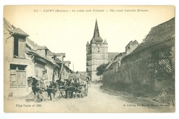 WW1, France, Fontaine-Le-Cappy. 'La Route Vers Eclusier.' Printed Pc, Unused. - France