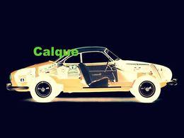SCHEMA D'ECLATE (20x30 Cm) SUR CALQUE.....................VOLKSWAGEN KARMANN GHIA - Cars