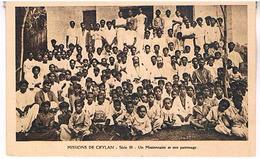 CEYLON  SRI LANKA  UN  MISSIONNAIRE  ET SON  PATRONAGE    T80 - Sri Lanka (Ceylon)