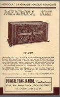 TSF : Dépliant MENDOLA  (PPP14451) - Advertising