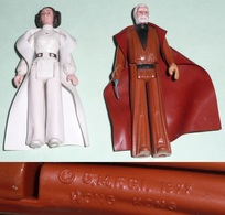 Rare Lot 2 Figurines Star Wars Vintage 1977, Princess Leia Obi Wan Kenobi, GMFGI G.M.F.G.I. - First Release (1977-1985)