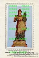 Napoli - Santino Antico SANTA LUCIA Vergine E Martire (Parrocchia Santa Lucia A Mare) - P68 - Religione & Esoterismo