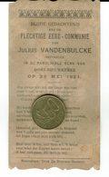 Julius Vandenbulcke  1921  Oostnieuwkerke - Communion